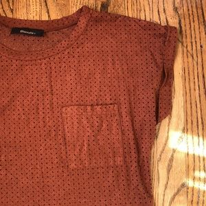 Brown Eyelet Top